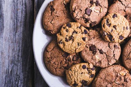 Homemade sweet chocolate chip cookies