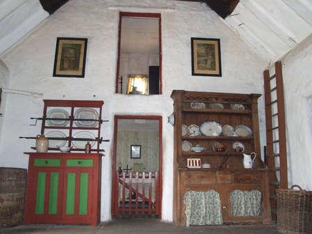 Old Style De Cuisine Dans La Ferme De La Campagne Irlandaise Du 19eme Siecle L Etablissement