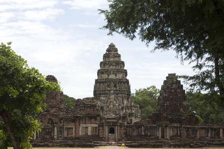 ancient stone carving at korat thailand