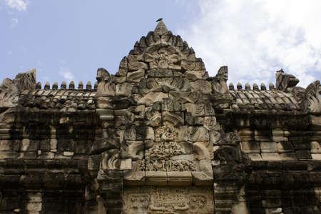 Pimai ancient temple in Korat, Thailand.  Stock Photo