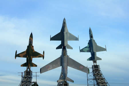 f 16: Construction site of aircraft monument ,Bangkok, Thailand