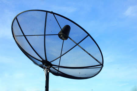 black antenna communication satellite dish Stock Photo - 15658234