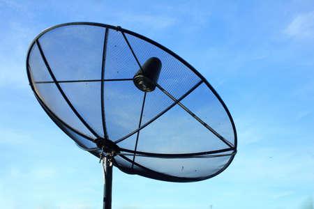 black antenna communication satellite dish Stock Photo - 15658234