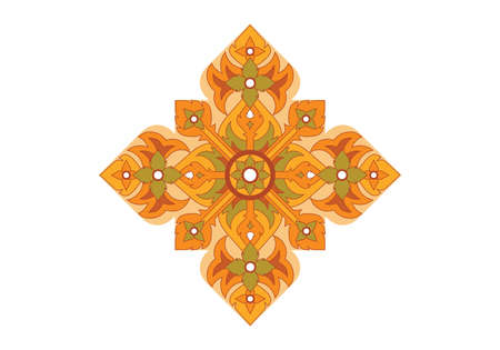 Thai basic ornament can be apply for tattoo ,pattern or background  Vector