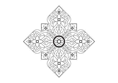 fine lines: Thai basic ornament can be apply for tattoo ,pattern or background
