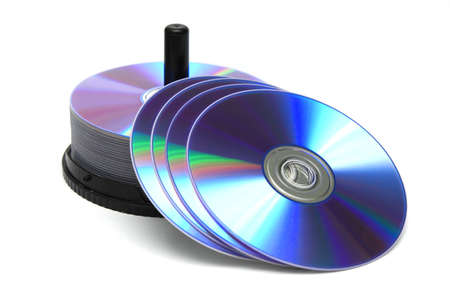 stack of compact discs isolated Stock Photo - 15821951