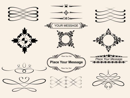 vector set,  page decoration - lots of useful elements