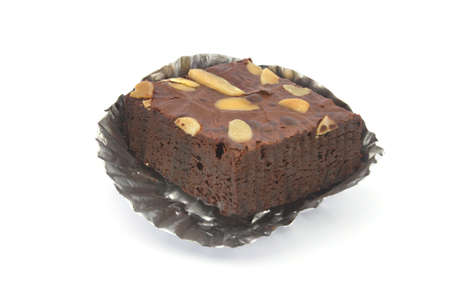 fresh wonderfully moist brownie with a deep fudgy chocolate flavor Stock Photo
