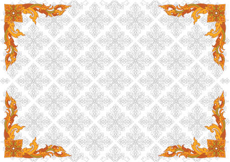 Thai pattern can be apply for tattoo ,pattern or background Vector