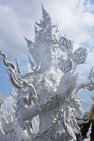 Buddhist art at Wat Rong Khun, Chiang Rai, Thailand.