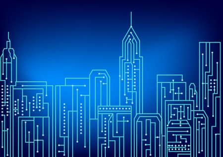 Art de conception de circuits électriques, Newyork ville