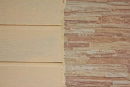 abstract wooden and stone wall background   photo