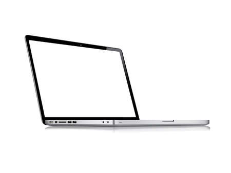 laptop: Modern glossy laptop isolated on white