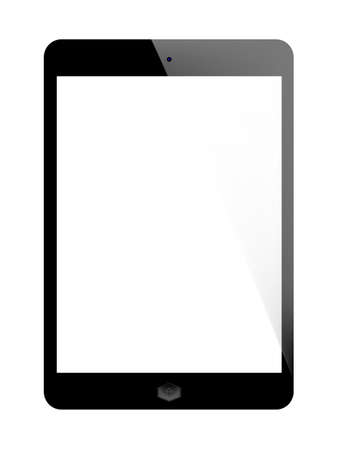 Realistic tablet pc computer in ipade style with blank screen isolated on white background Vector