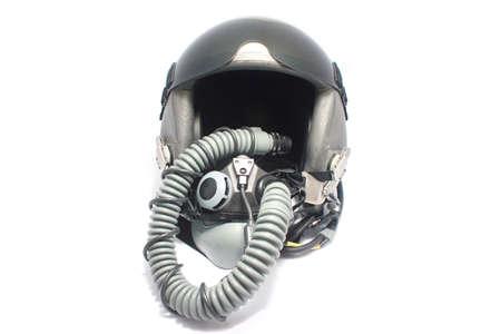 Aircraft helmet or Flight helmet with oxygen mask  photo