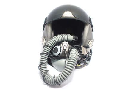 flight helmet: Aircraft helmet or Flight helmet with oxygen mask  Stock Photo