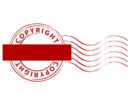 plagiarism: copyright stamp with blank tap for your text Illustration