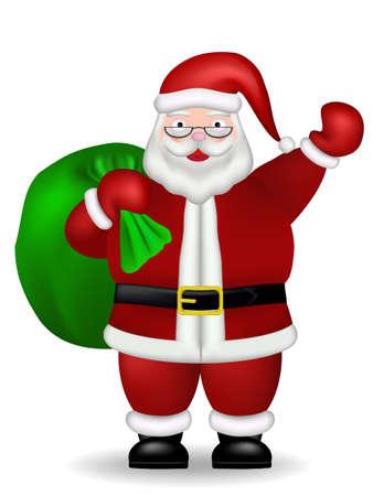 xmass: Vector of Santa Claus giving xmas gift