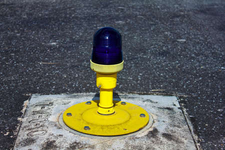 Ground side lamp taxiway at the airport  photo