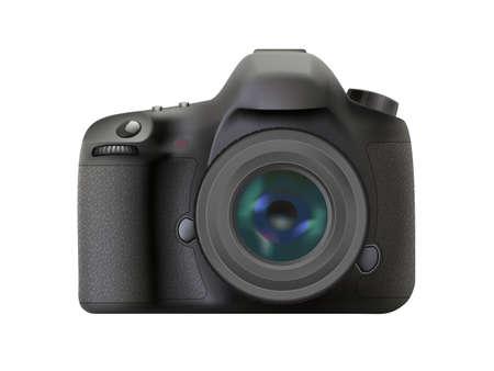 unnamed: Modern digital reflex camera, Realistic DSLR camera Illustration