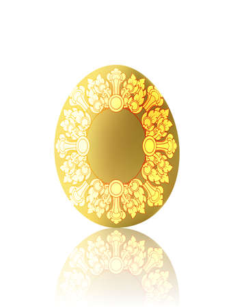 Ester egg with the Thai pattern (Illustration)