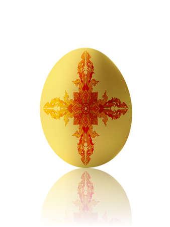 Ester egg with the Thai pattern (Illustration)