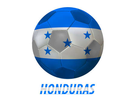 Soccer ball with honduras flag isolated in white  Vector