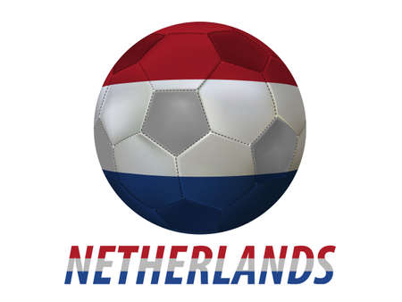 Soccer ball with netherlands flag isolated in white  Vector