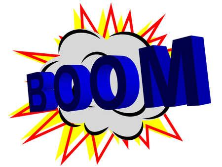 изумление: Boom! Comic Speech со стрелой на фоне
