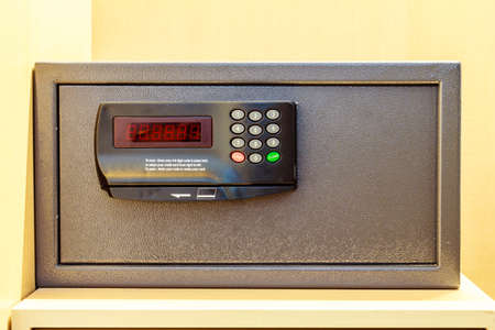 safe house: Safe box with electonic lock in the hotel