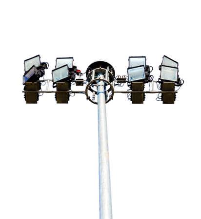 halogen lighting: The Stadium lights , isolated on white background