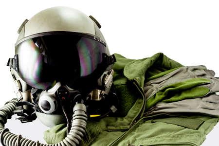 flight helmet: Military pilot flight suit with pilot glove & Flight helmet with oxygen mask