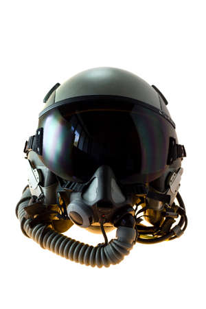 Aircraft helmet or Flight helmet with oxygen mask Standard-Bild
