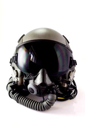 Aircraft helmet or Flight helmet with oxygen mask 스톡 콘텐츠