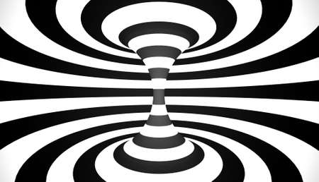 trickery: Abstract spiral circle black and white doodle charcoal Stock Photo