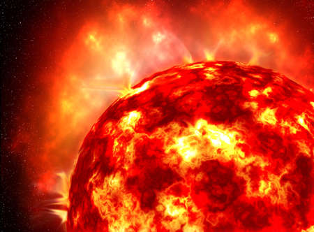 harsh: The sun in the deep space, super nova Stock Photo