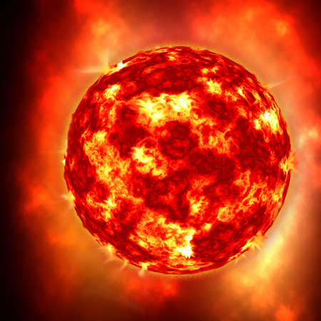 millions: The sun in the deep space, super nova Stock Photo