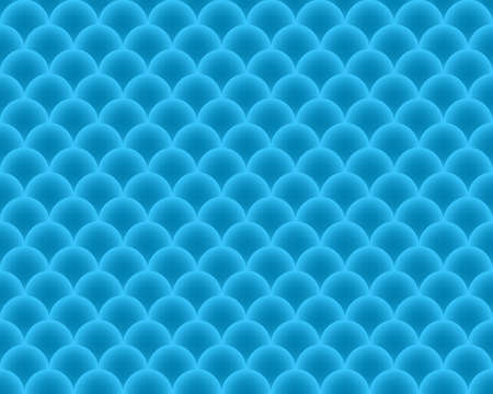 fish scales: Seamless Pattern fish scales - vector abstract texture in blue color. Illustration