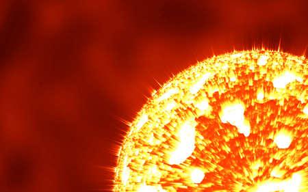 The sun in the deep space, super nova Standard-Bild