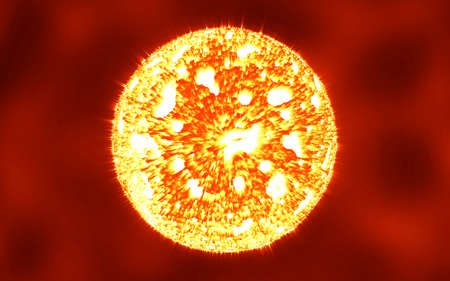 The sun in the deep space, super nova Stock Photo