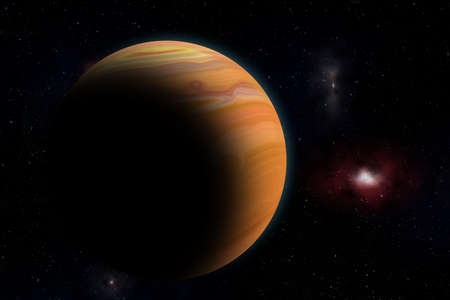 The Jupiter from space ( Illustration picture ) Stock Photo