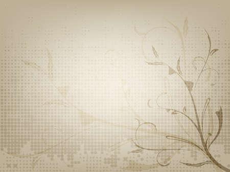 The vintage ornamental old paper background, illustration Stock Photo