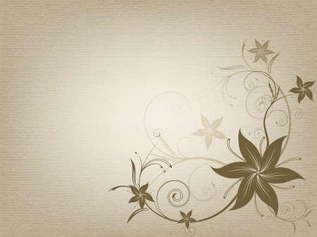 The vintage ornamental old paper background, illustration Standard-Bild