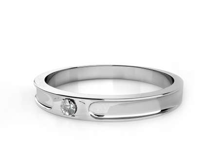Diamond ring on a white background.