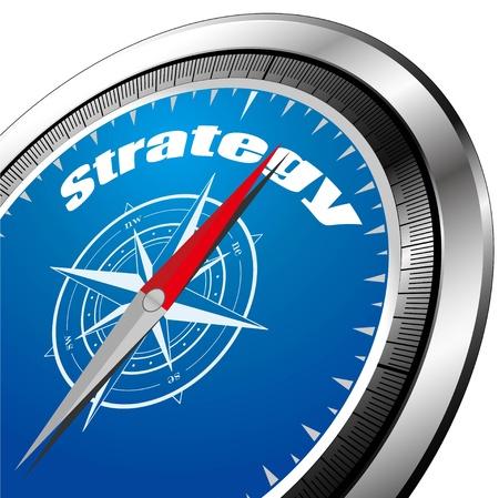ir�ny: stratégia iránytű Stock fotó