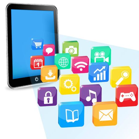 tablet pc applications Stock Photo - 11479671