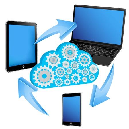 exchange data between electric devices  Stock Vector - 11654826