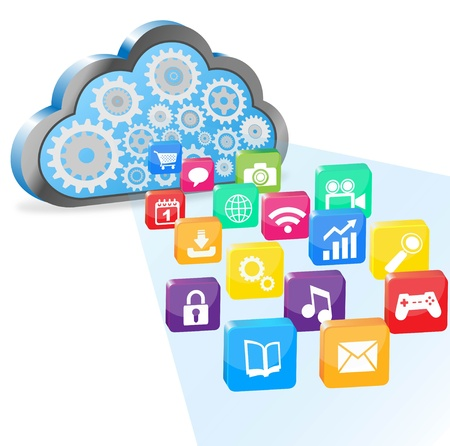 install: cloud computing and applications  Illustration