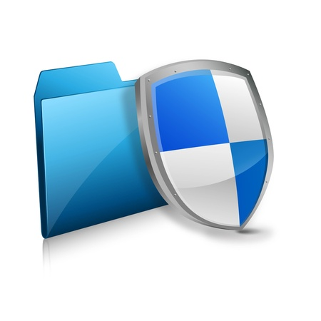 anti virus: file and protection shield  Illustration