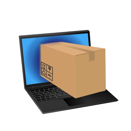 online shopping with laptop computer